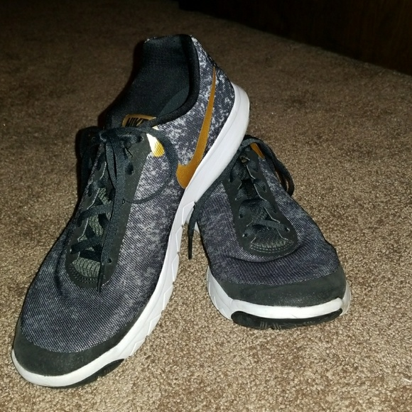 Black and Gold Nikes